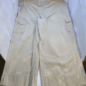 Lauren Ralph Lauren Khaki Crop Capri Pants Women